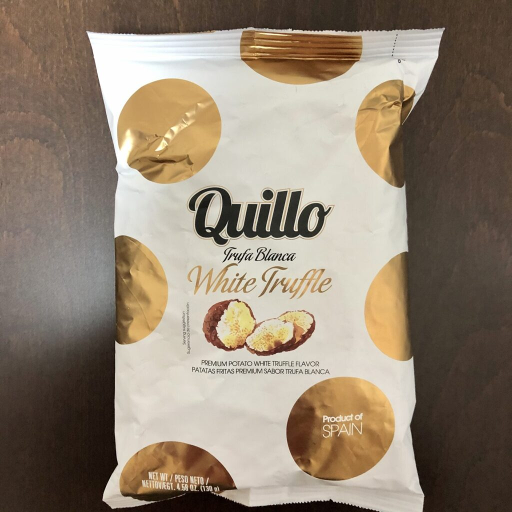「Quillo(キジョー) ポテトチップス 白トリュフ味」の袋の表面